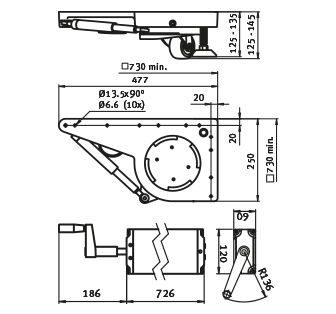 FATH Lift Castor hydraulic-drawing-02