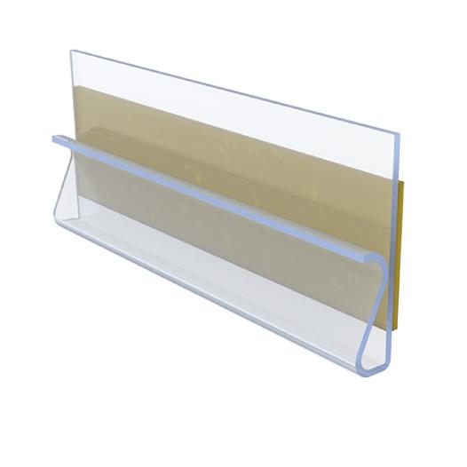 selbstklebender Etikettenhalter mit Clip-Funktion