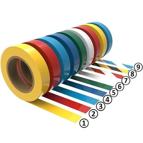 farbige Bodenmarkierungsänder