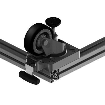 Lenkrolle 40 mm Profilbreite an 40 mm Profilbreite
