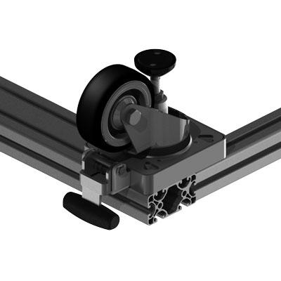 Lenkrolle 40 mm Profilbreite an 80 mm Profilbreite