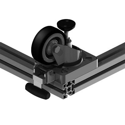 Lenkrolle 45 mm Profilbreite an 45 mm Profilbreite