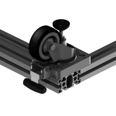 Lenkrolle 45 mm Profilbreite an 90 mm Profilbreite