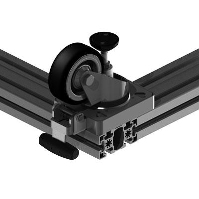 Lenkrolle 90 mm Profilbreite an 90 mm Profilbreite