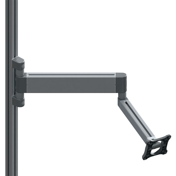 Double system arm I40H 695 with monitor mount